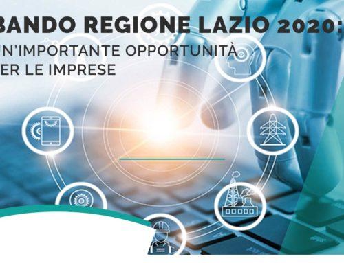 Nuovo bando a sostegno dei processi di digitalizzazione delle imprese del Lazio